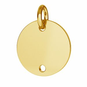 Round charm with 2 holes - BL 2 - 10 MM / 0,33