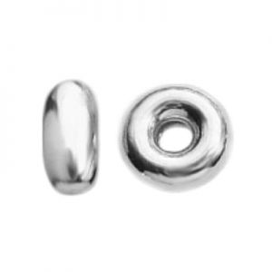 Donut silver spacer - OPG 2,05x5,5 mm
