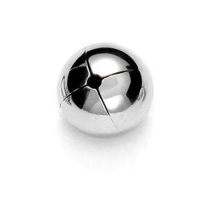 Silver balls 10mm (1 hole) - P1F 10,0 F:0,9