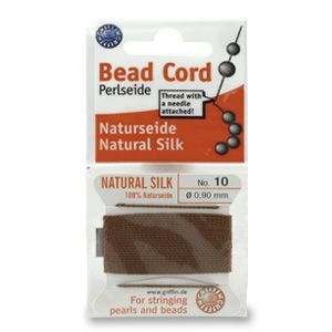 SILKTHREAD 10 - BROWN (0.90 mm, 2.0 m)