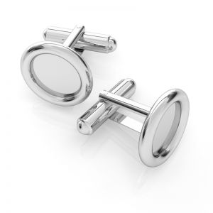 Silver setting for cufflinks - MTW 12,0 - polished