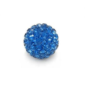 DISCOBALL 1 HOLE CAPRI BLUE 8 MM