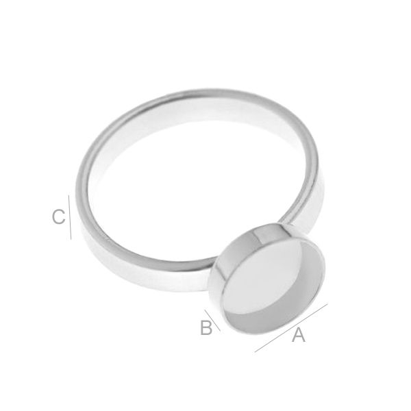 Round ring setting for Magic Glos - S-RING 010 8X8