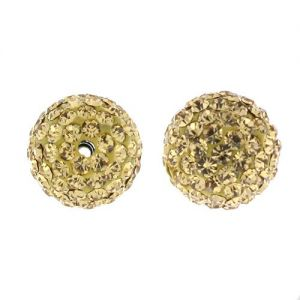 DISCOBALL BEAD LT. COLORADO TOPAZ 12 MM