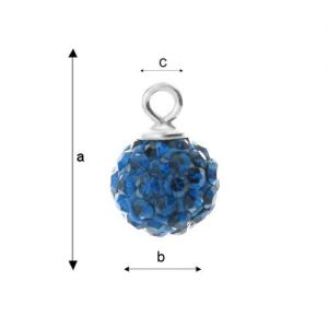 DISCOBALL CAPRI BLUE 8 MM