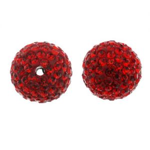 DISCOBALL BEAD LIGHT SIAM 14 MM
