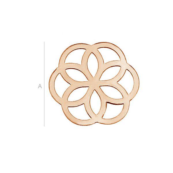 Decorative flower sterling silver 925 - LK-0021