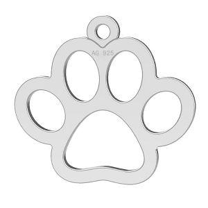 Pata de perro colgante, plata 925, LK-0365 - 0,50