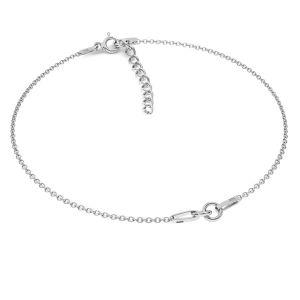 Base de pulsera*plata 925*BRACELET 18 (A 030) + R1 50 15-19 cm