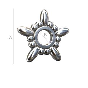 ODL-00024 - Silver star spacer