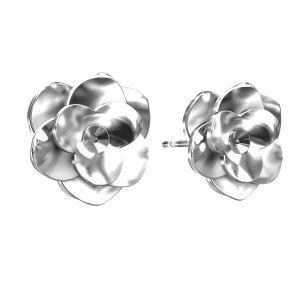 Rosa aretes, plata 925, ODL-00041 KLS