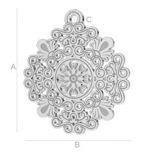 Silver openwork - LK-0562 - 0,50