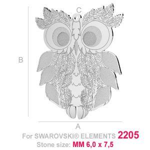 Big owl (2205 MM 6x7,5) - LK-0584
