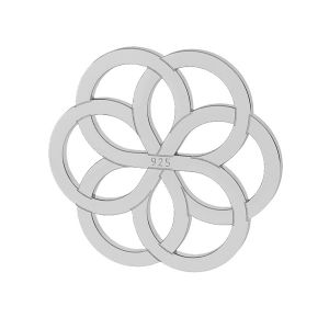 Decorative flower sterling silver 925 - LK-0021 - 10MM