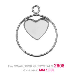 Heart 10mm Swarovski base HKSV 2808 MM 10 CON1 KCL 0,9x2,0