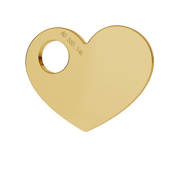Corazón oro 14K colgante LKZ-00014 - 0,30 mm