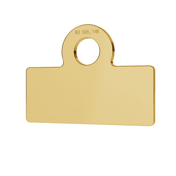 Rectángulo oro 14K colgante LKZ-00017 - 0,30 mm