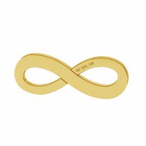 Símbolo de infinito colgante oro 14K LKZ-00325 - 0,30 mm