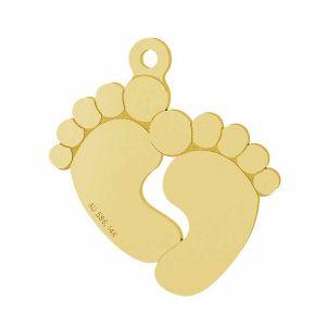 Pies de bebé colgante oro 14K LKZ-00482 - 0,30 mm