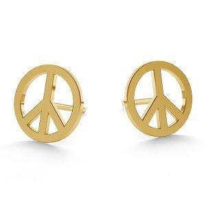Simbolo de paz aretes oro 14K LKZ-00590 KLS - 0,30 mm