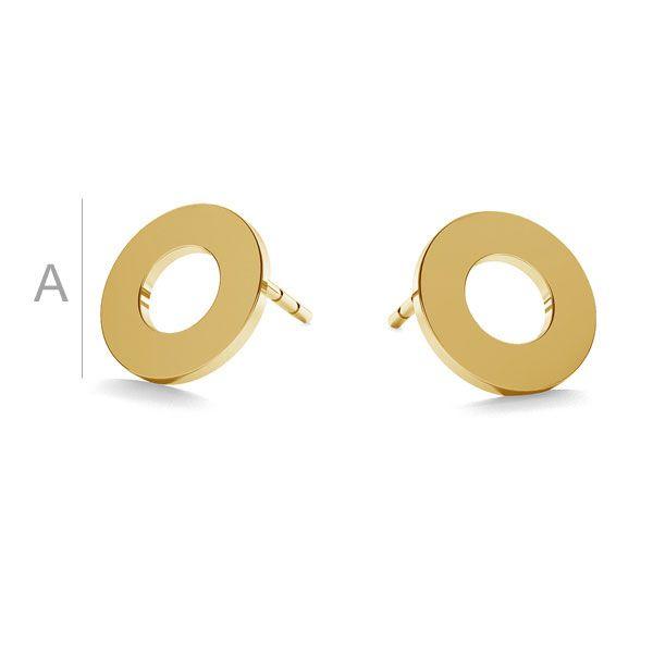 Redondo aretes oro 14K LKZ-00671 KLS - 0,30 mm