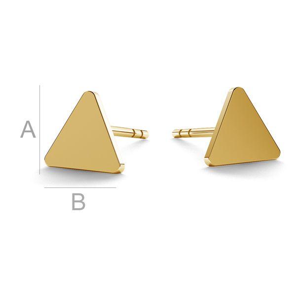 Triángulo aretes oro 14K LKZ-00935 KLS - 0,30 mm