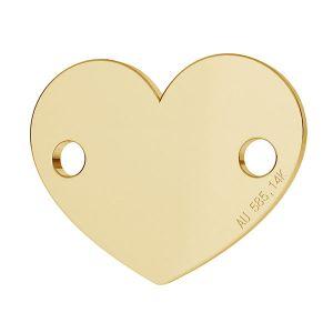 Corazón colgante oro 14K LKZ-00462 - 0,30 mm