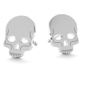 Cráneo halloween aretes, LK-1023 - 0,50