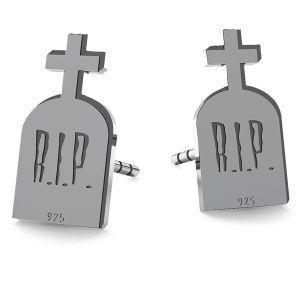 Lápida sepulcral halloween aretes, LK-1027 - 0,50