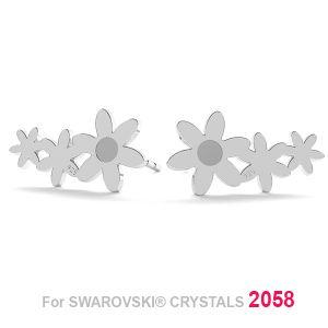 Flor aretes (2058 SS 7) LK-1179 KLS - 0,50