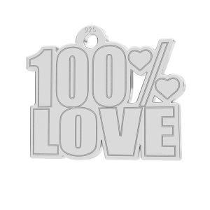 100% Love colgante, LK-1185 - 0,50