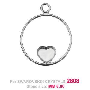 Heart 6mm Swarovski base HKSV 2808 MM 6 CON1 KCL 0,9x2,0