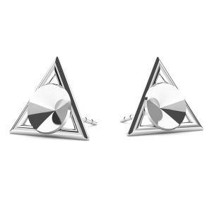 Triángulo aretes Swarovski Rivoli 6mm, plata 925, ODL-00315 KLS (1122 SS 29)