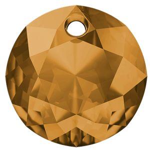 Classic Cut Pendant, Swarovski Crystals, 6430 MM 8,0 TOPAZ