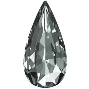 Teardrop Fancy Stone, Swarovski Crystals, 4322 MM 10,0X 5,0 BLACK DIAMOND F