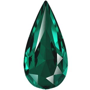 Teardrop Fancy Stone, Swarovski Crystals, 4322 MM 10,0X 5,0 EMERALD F