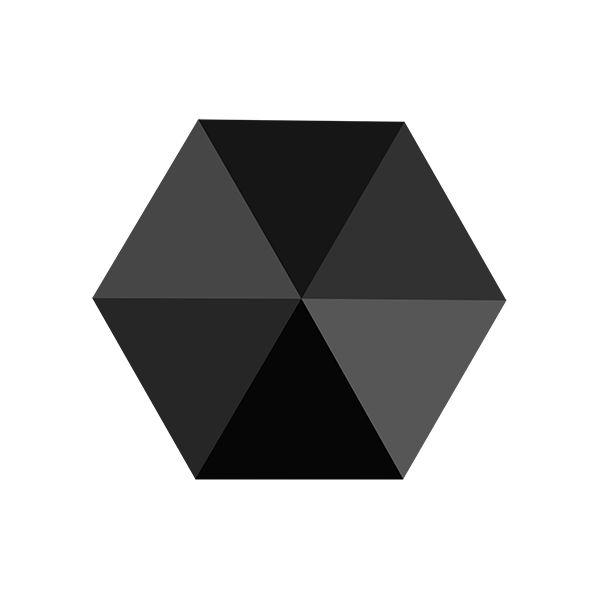 Hexagon Spike Bead, Swarovski Crystals, 5060 MM 7,5 JET