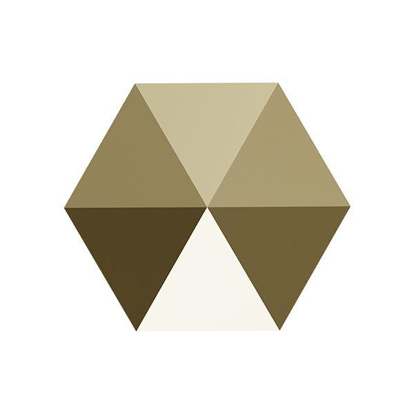 Hexagon Spike Bead, Swarovski Crystals, 5060 MM 7,5 CRYSTAL METALLIC LIGHT GOLD