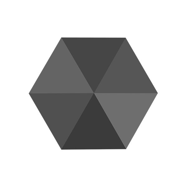 Hexagon Spike Bead, Swarovski Crystals, 5060 MM 7,5 JET HEMATITE