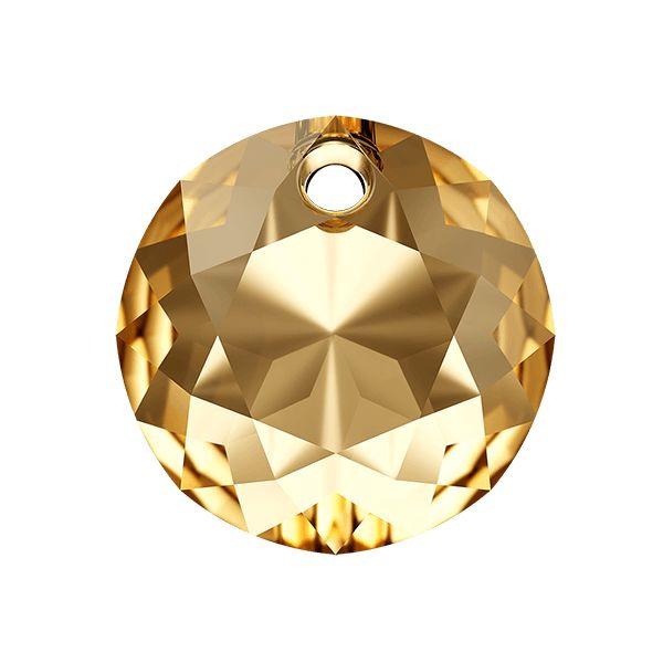 Classic Cut Pendant, Swarovski Crystals, 6430 MM 14,0 CRYSTAL GOLDEN SHADOW