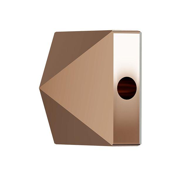 Square Spike Bead, Swarovski Crystals, 5061 MM 5,5 CRYSTAL ROSE GOLD