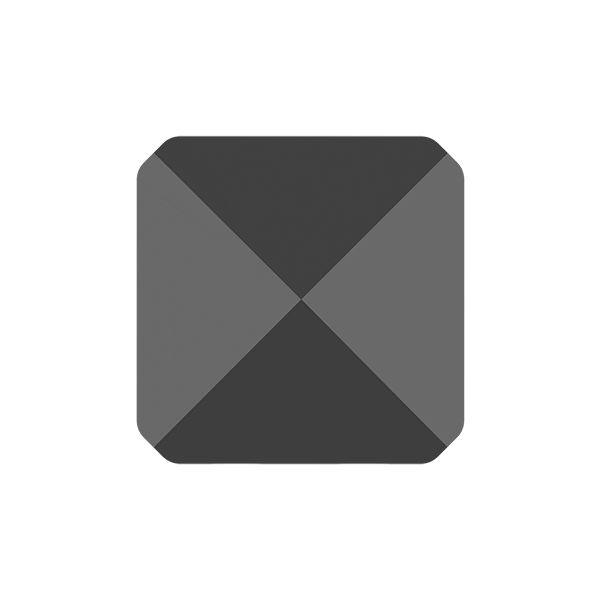 Square Spike Bead, Swarovski Crystals, 5061 MM 5,5 JET HEMATITE