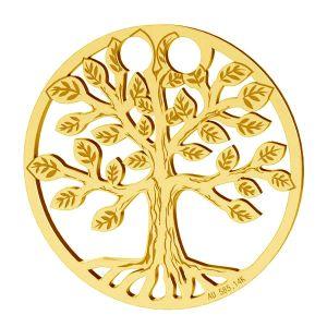 Árbol de la vida colgante, oro 14K, LKZ-01305 - 0,30