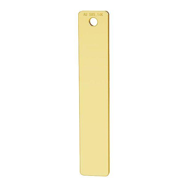 Rectángulo oro 14K colgante, LKZ-00512 - 0,30