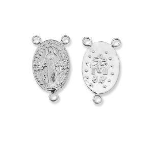 Conector rosario, plata 925, W-57