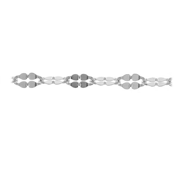 Anchor sterling silver chain in meters - A 030