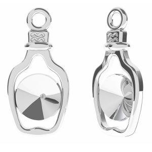Botella colgante Rivoli 6mm, plata 925, ODL-00338 (1122 SS 29)