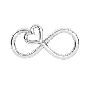 Símbolo de infinito colgante, plata 925, ODL-00332