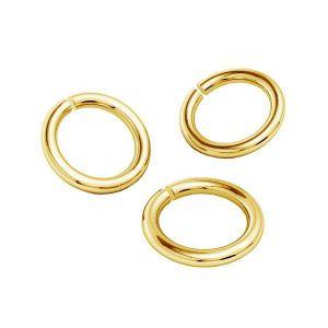 Oro anillas AU 585 14K, KC-0,80x4,25