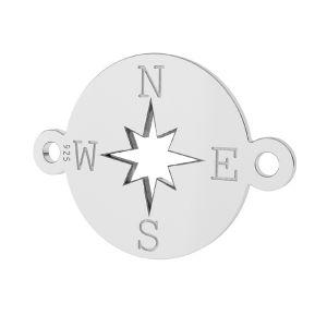 Brújula colgante, plata 925, LK-1318 - 0,50